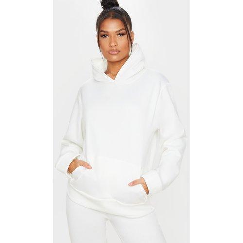 Hoodie en polaire blanc, Blanc - PrettyLittleThing - Modalova