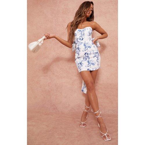 Mini jupe imprimé fleuri en maille tissée - PrettyLittleThing - Modalova