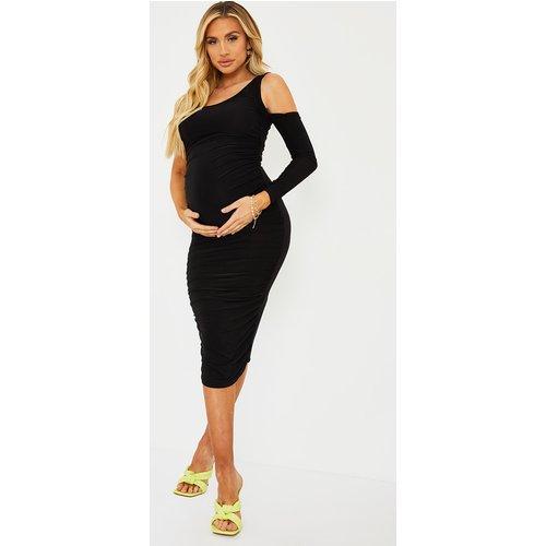 PLT Maternité - Robe mi-longue à manche unique - PrettyLittleThing - Modalova