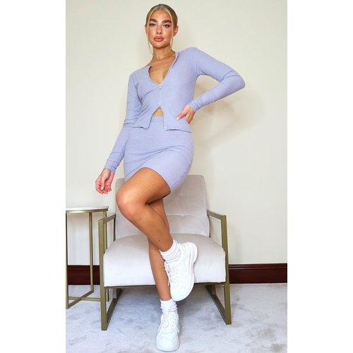 Mini-jupe en maille côtelée brossée douce - PrettyLittleThing - Modalova