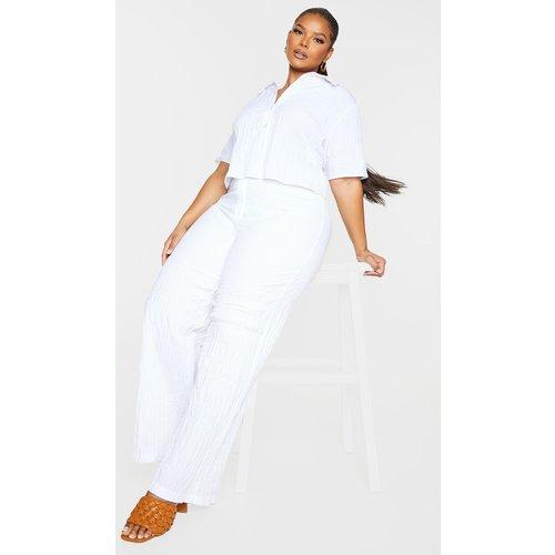 PLT Plus - Pantalon large à fronces - PrettyLittleThing - Modalova