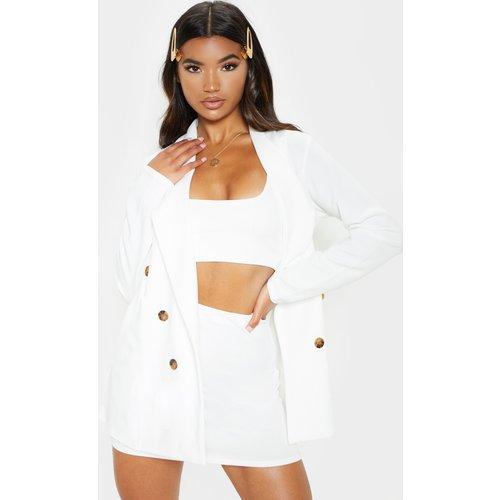 Mini-jupe blanche style tailleur - PrettyLittleThing - Modalova