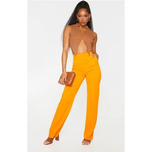 Pantalon droit en maille tissée à détail poches - PrettyLittleThing - Modalova