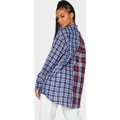 Chemise manches longues oversize bicolore à carreaux  - PrettyLittleThing - Modalova