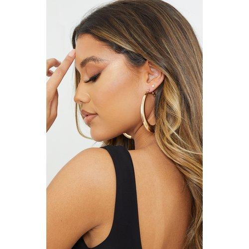 Boucles d'oreilles oversize ovales  - PrettyLittleThing - Modalova