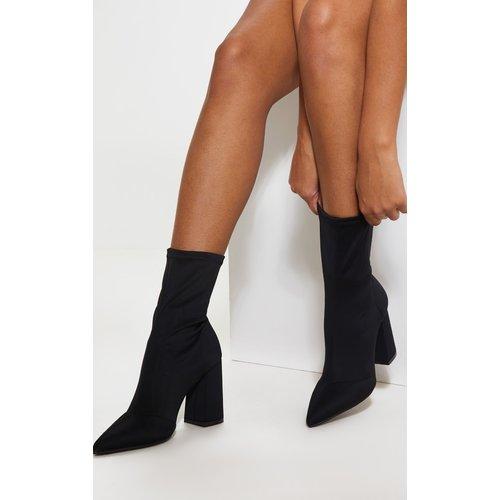 Bottes-chaussettes pointues à talons carrés - PrettyLittleThing - Modalova