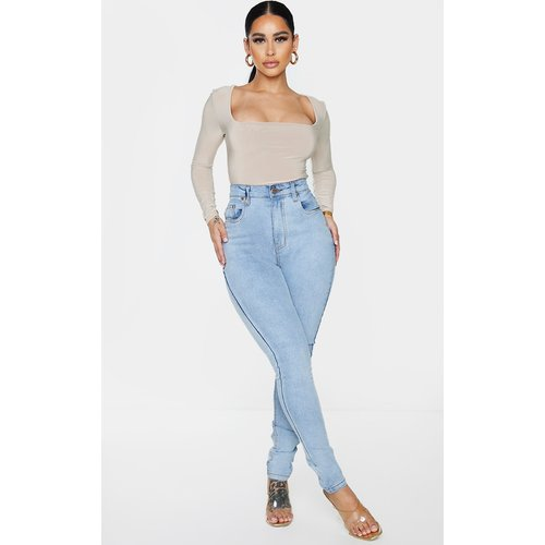 Shape - Jean skinny délavé vintage super stretch à taille haute - PrettyLittleThing - Modalova