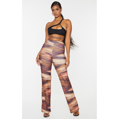Pantalon large rayé à pinces et noué sur la taille - PrettyLittleThing - Modalova