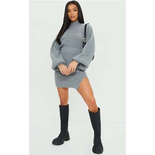 Petite - Jupe moulante en maille tricot fendue - PrettyLittleThing - Modalova
