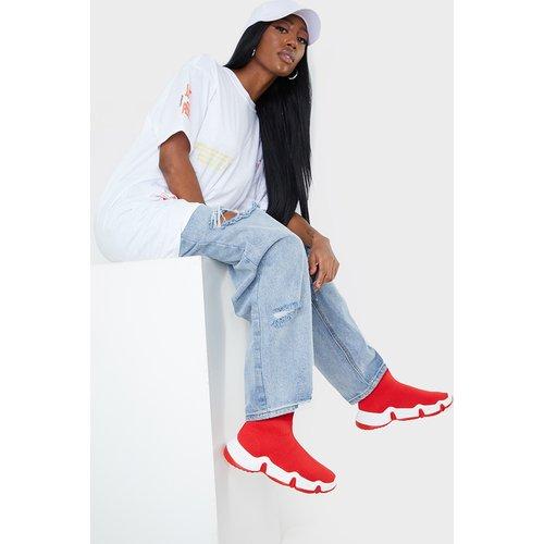 Bottines-chaussettes style basket à semelle ondulée - PrettyLittleThing - Modalova