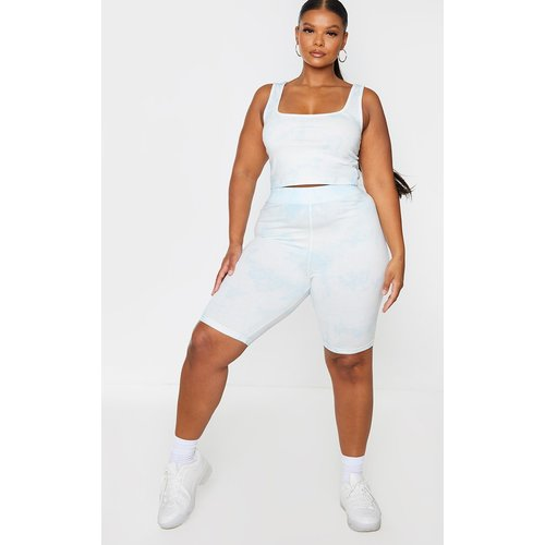 PLT Plus - Short-legging en coton imprimé tie & dye - PrettyLittleThing - Modalova
