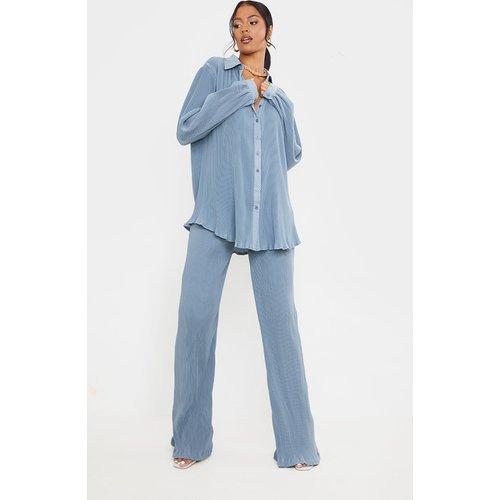Tall - Pantalon taille haute plissé à jambes évasées - PrettyLittleThing - Modalova