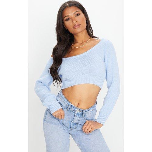 Pull court en tricot à encolure très large - PrettyLittleThing - Modalova