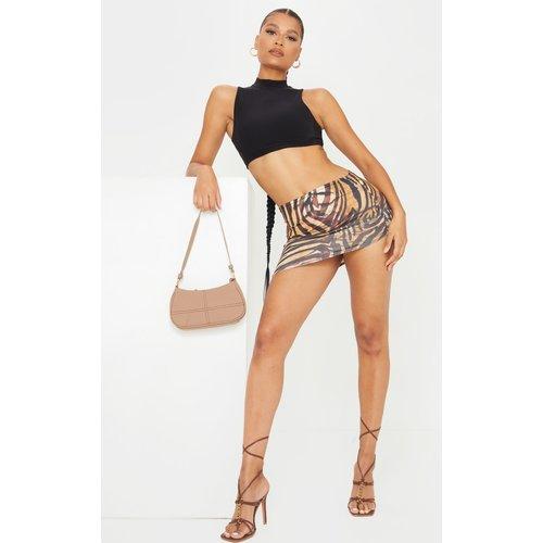 Mini jupe moulante asymétrique imprimé zèbre - PrettyLittleThing - Modalova