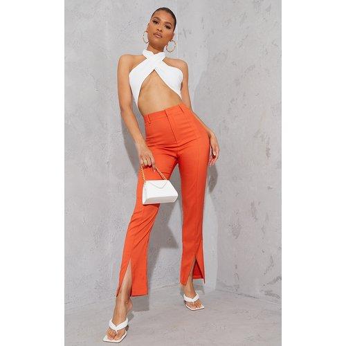 Pantalon droit à ourlet fendu et taille haute - PrettyLittleThing - Modalova