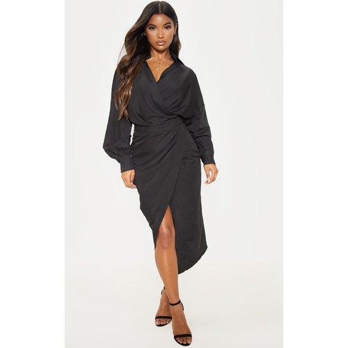 Robe mi-longue style chemise - PrettyLittleThing - Modalova