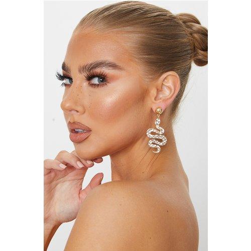 Boucles d'oreilles moyennes à pendants serpent - PrettyLittleThing - Modalova