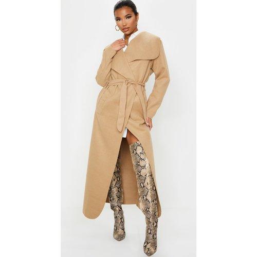 Manteau long oversize effet cascade à ceinture - PrettyLittleThing - Modalova