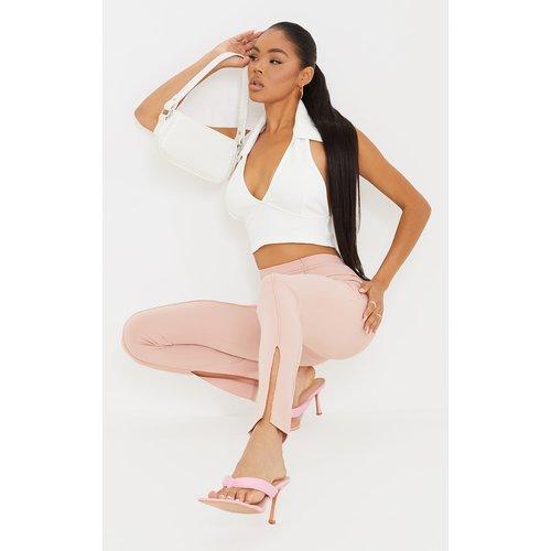Pantalon droit à coutures abstraites et devant fendu - PrettyLittleThing - Modalova