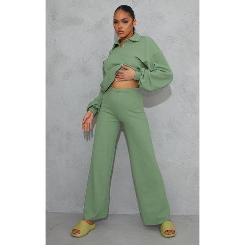 Pantalon ample en maille gaufrée - PrettyLittleThing - Modalova