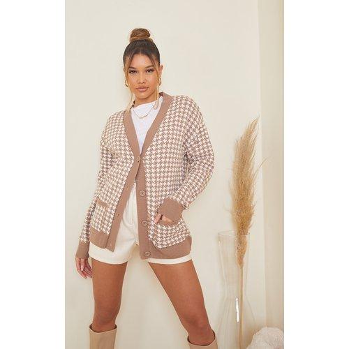Gilet en maille tricot pied-de-poule  - PrettyLittleThing - Modalova