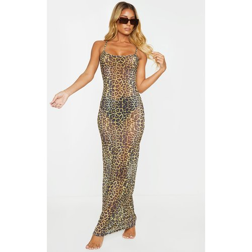 Robe de plage en mesh imprimé  - PrettyLittleThing - Modalova