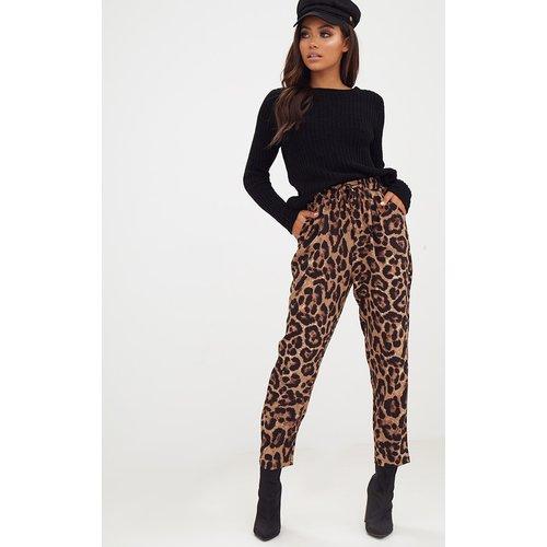 Pantalon casual à imprimé brun - PrettyLittleThing - Modalova