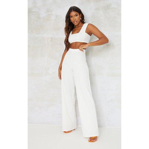 Pantalon large en crêpe - PrettyLittleThing - Modalova