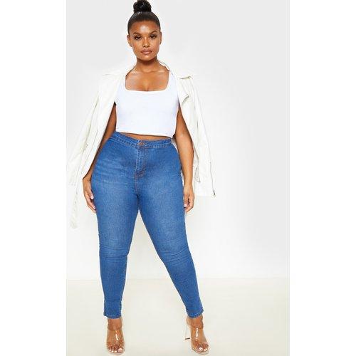 PLT Plus - Jean skinny super stretch moyennement délavé à taille haute - PrettyLittleThing - Modalova