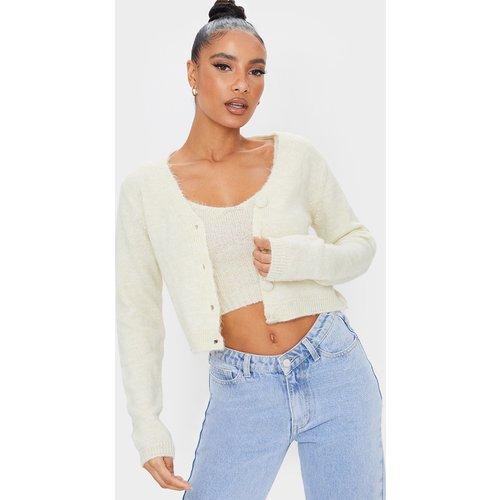 Gilet court en maille tricot à boutons - PrettyLittleThing - Modalova