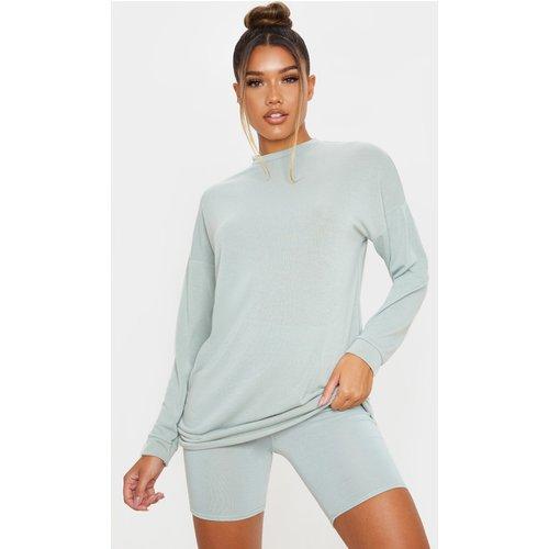 Short-legging en coton doux à taille haute - PrettyLittleThing - Modalova