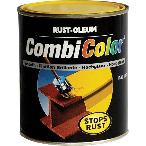 Rust Oleum Rust Oleum CombiColor Metal Protection Paint Light Yellow 750ml