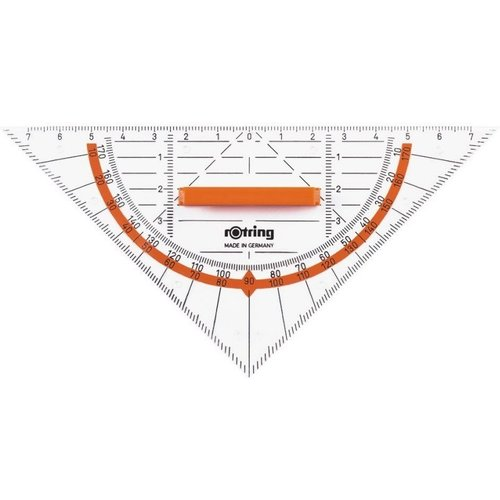 Rotring Rotring Triangle ruler Centro 16cm with handle