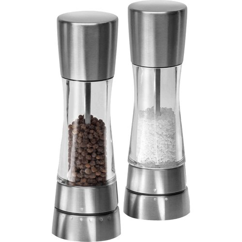 Cole & Mason  Cole & Mason Gourmet Precision Derwent Salt and Pepper Mill Gift Set, Stainless Steel and Acrylic, 19 cm