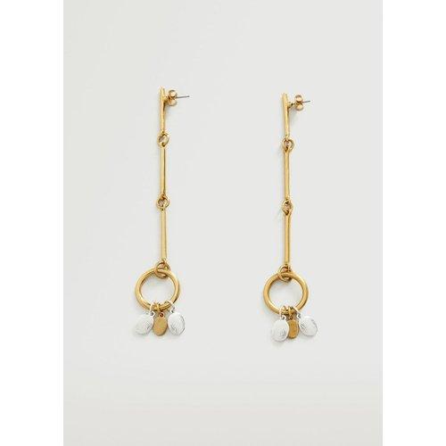 Boucles d'oreilles perles pendantes - Mango - Modalova