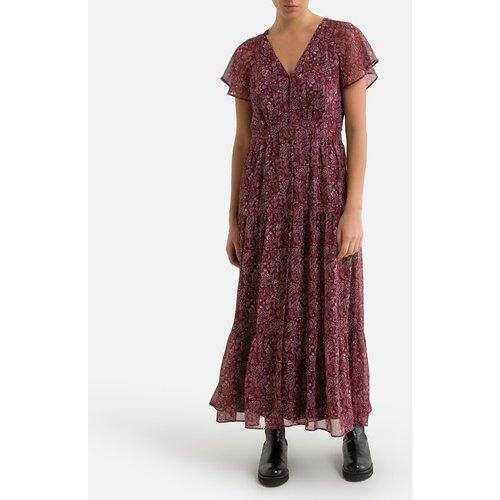 Robe longue patineuse imprimé floral, longue - IKKS - Modalova
