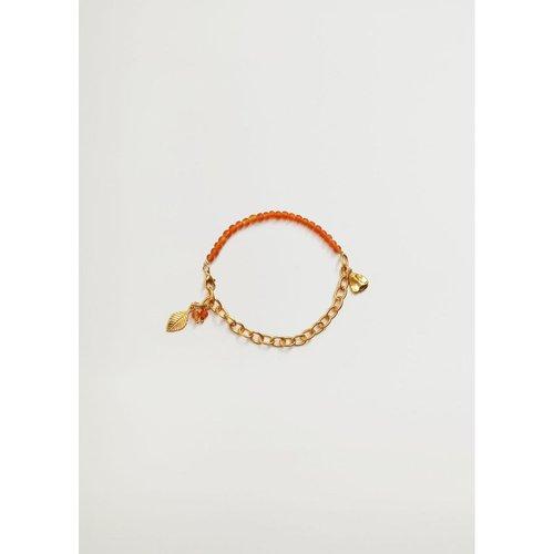 Bracelet de cheville perles combinées - Mango - Modalova