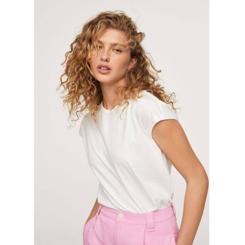 T-shirt coton ouverture au dos - Mango - Modalova