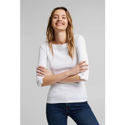 T-shirt manches 3/4 col bateau - Esprit - Modalova