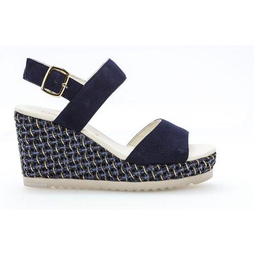 Sandales cuir talon compensé - Gabor - Modalova