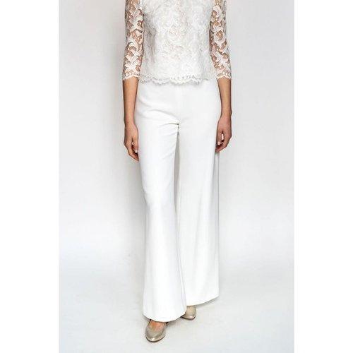 Pantalon de mariée FLARE, made in France - HARPE - Modalova