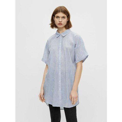 Chemise à manches courtes Long - Pieces - Modalova