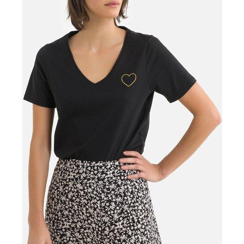 T-shirt manches courtes, motif devant - Pieces - Modalova