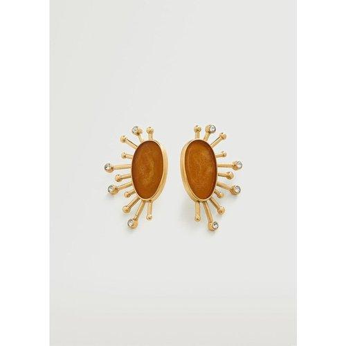 Boucles d'oreilles asymétriques combinées - Mango - Modalova