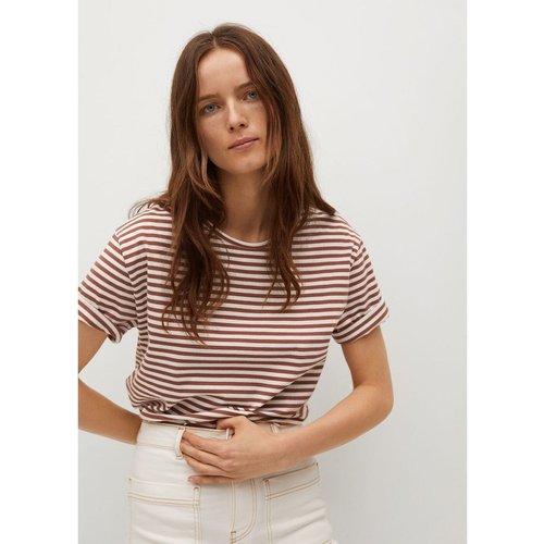 T-shirt coton à rayures - Mango - Modalova