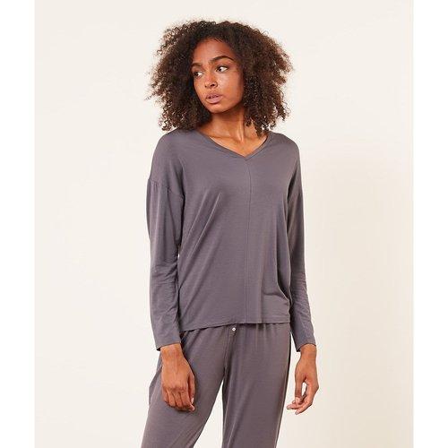 Haut de pyjama T-shirt manches longues uni MODY - ETAM - Modalova