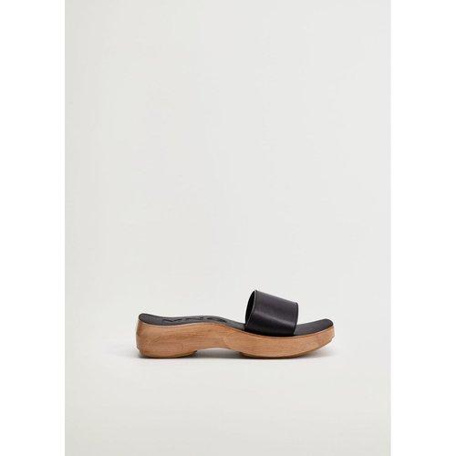 Sandales cuir asymétriques - Mango - Modalova