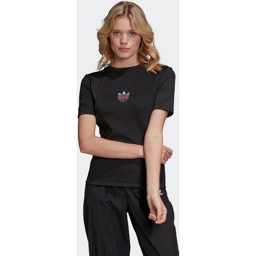 T-shirt col rond manches courtes logo poitrine - adidas Originals - Modalova