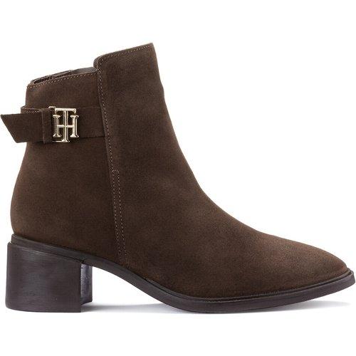 Boots en daim à talon moyen TH - Tommy Hilfiger - Modalova