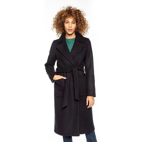 Manteau peignoir en laine avec ceinture à nouer BEAUNE - TRENCH AND COAT - Modalova
